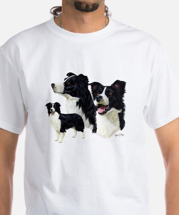 Border Collie White T-Shirt