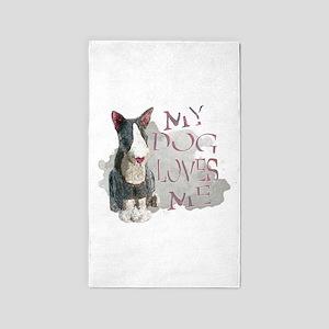 My Dog Loves Me 3'x5' Area Rug