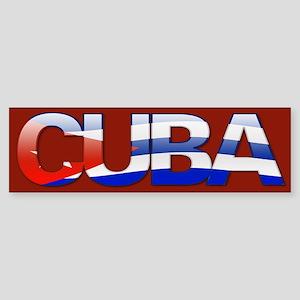 """Cuba Bubble Letters"" Bumper Sticker"