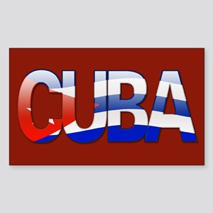 """""""Cuba Bubble Letters"""" Rectangle Sticker"""
