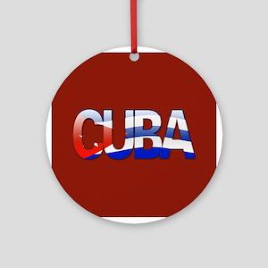 """Cuba Bubble Letters"" Ornament (Round)"
