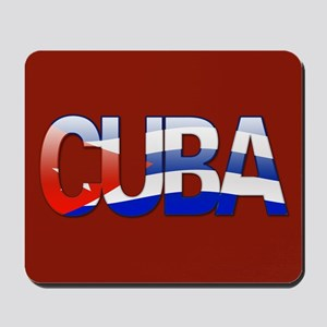 """Cuba Bubble Letters"" Mousepad"