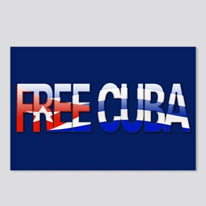 """""""Free Cuba Bubble Letters"""" Postcards (Package of 8"""