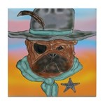 Sherriff bulldog Tile Coaster