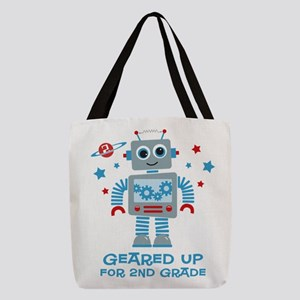 Robot Geared Up 2nd Grade Polyester Tote Bag