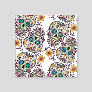 SugarSkull Halloween White Sticker