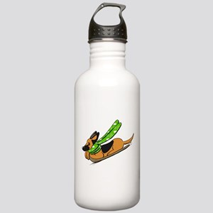 German Shepherd Sled Water Bottle