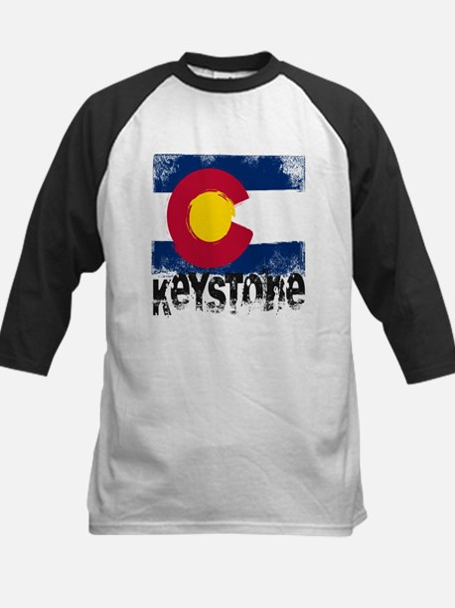 Keystone Grunge Flag Kids Baseball Jersey