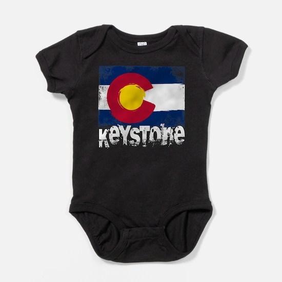 Keystone Grunge Flag Baby Bodysuit