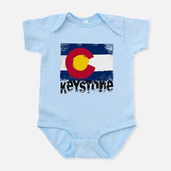 Keystone Grunge Flag Infant Bodysuit