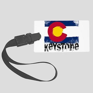 Keystone Grunge Flag Large Luggage Tag