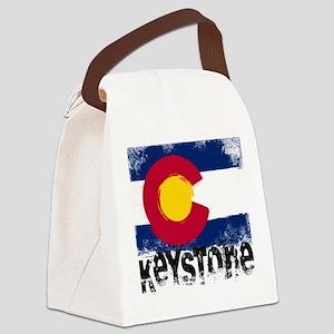 Keystone Grunge Flag Canvas Lunch Bag