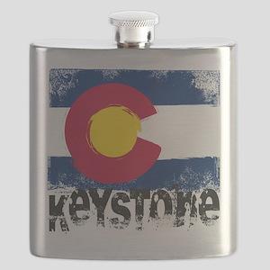 Keystone Grunge Flag Flask