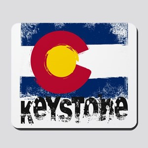 Keystone Grunge Flag Mousepad