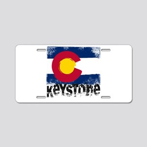 Keystone Grunge Flag Aluminum License Plate