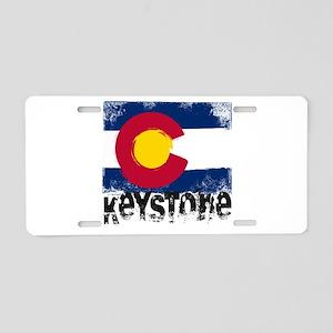 Keystone Grunge Flag Aluminum License Plate