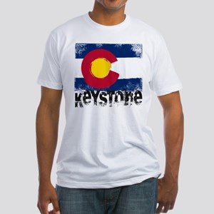 Keystone Grunge Flag Fitted T-Shirt