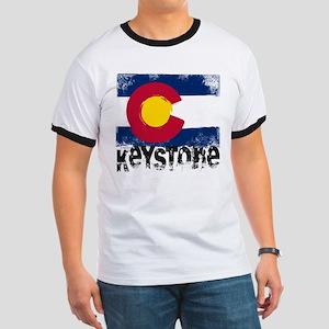 Keystone Grunge Flag Ringer T