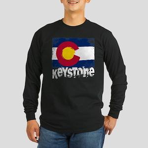 Keystone Grunge Flag Long Sleeve Dark T-Shirt