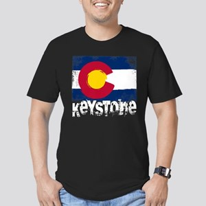 Keystone Grunge Flag Men's Fitted T-Shirt (dark)