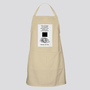 Blonde IQ Test BBQ Apron