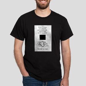 Blonde IQ Test Dark T-Shirt