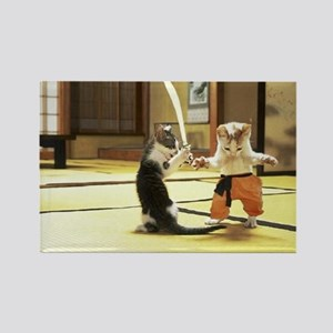 Martial Arts Mice Rectangle Magnet