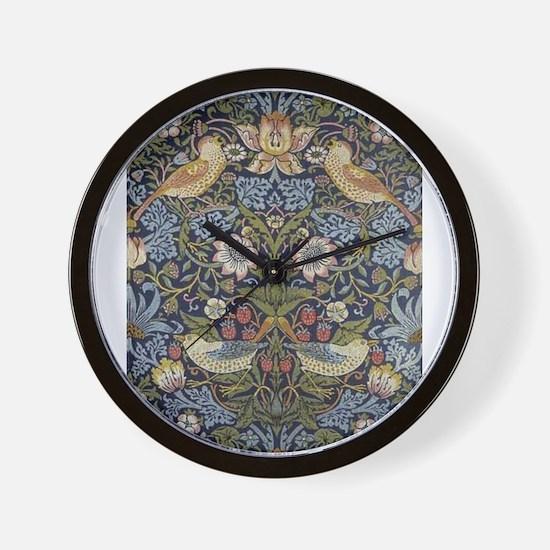 William Morris Strawberry Thief Design Wall Clock