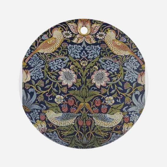 William Morris Strawberry Thief Des Round Ornament