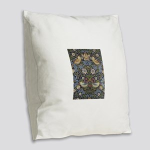 William Morris Strawberry Thie Burlap Throw Pillow
