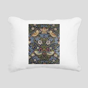 William Morris Strawberr Rectangular Canvas Pillow