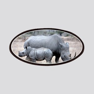 Mother and Baby Rhino Patches