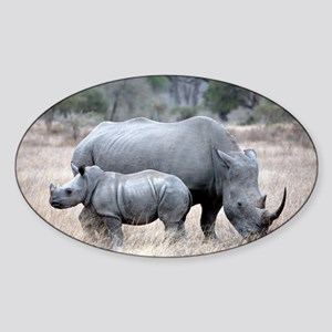 Mother and Baby Rhino Sticker