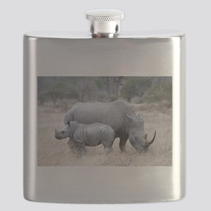 Mother and Baby Rhino Flask