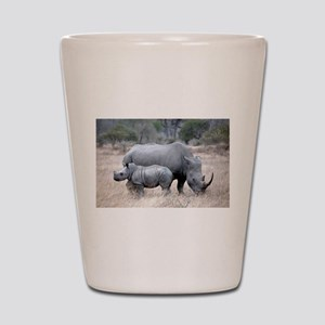 Mother and Baby Rhino Shot Glass