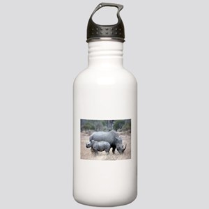 Mother and Baby Rhino Water Bottle