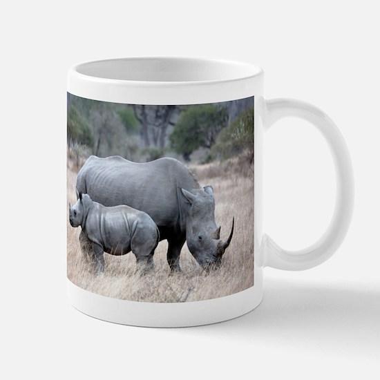 Mother and Baby Rhino Mugs