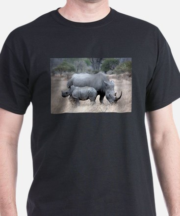 Mother and Baby Rhino T-Shirt