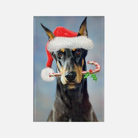 Doberman Christmas Magnets