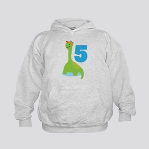 5th Birthday Dino Kids Hoodie