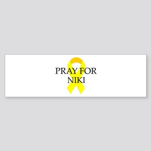 Pray for Niki Bumper Sticker