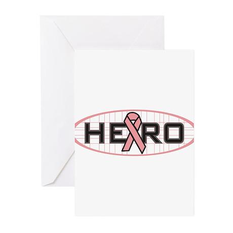 Hero Pink Ribbon Greeting Cards (Pk of 10)
