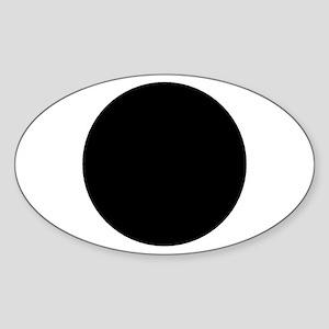 Oval Black Dot Sticker