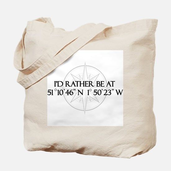I'd rather be at Stonehenge. Tote Bag