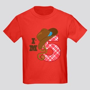 5 Year Old Cowboy Kids Dark T-Shirt