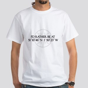 I'd rather be at Stonehenge. White T-Shirt