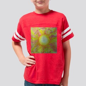 Sun Salutation Yoga Postures Youth Football Shirt