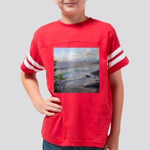 Hana Coast Maui Hawaii Youth Football Shirt