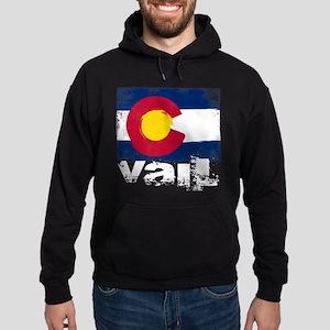 Vail Grunge Flag Hoodie (dark)
