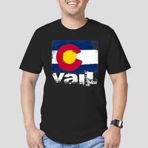 Vail Grunge Flag Men's Fitted T-Shirt (dark)
